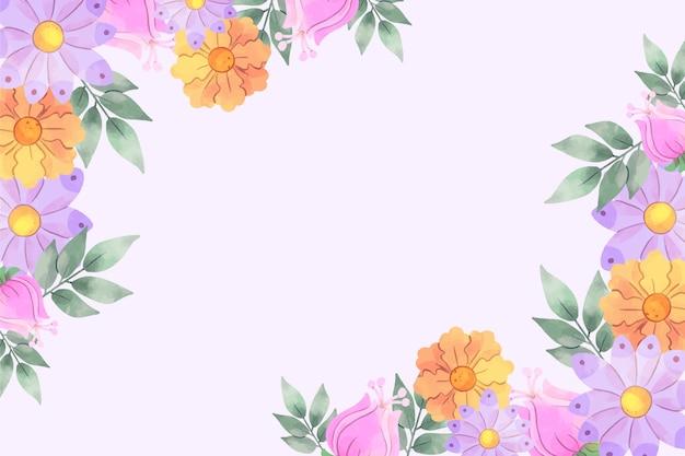 Aquarel bloemen achtergrond