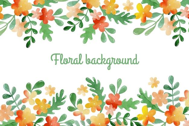 Aquarel bloemen achtergrond.