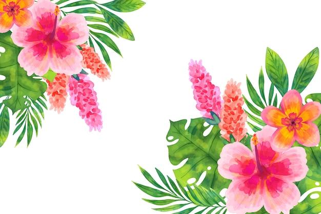 Aquarel bloemen achtergrondontwerp