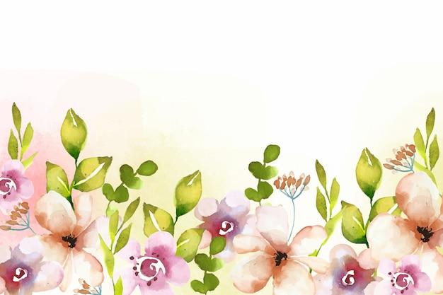 Aquarel bloemen achtergrondstijl