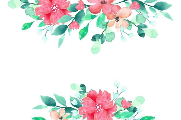 Aquarel bloemen achtergrondthema