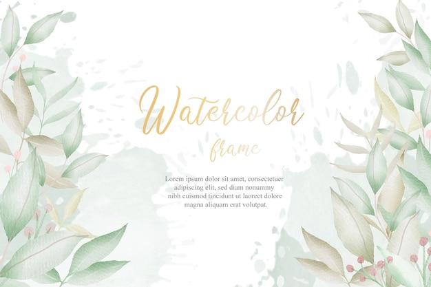 Aquarel bloemen arrangement achtergrond voor bruiloft uitnodiging