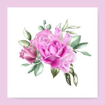 Aquarel bloemen boeket