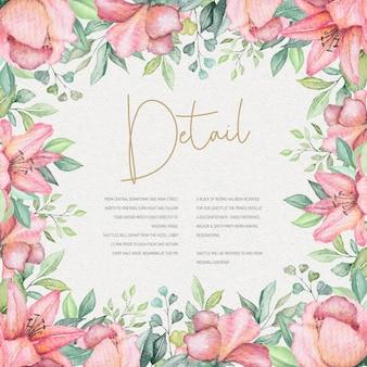 Aquarel bloemen bruiloft kaart