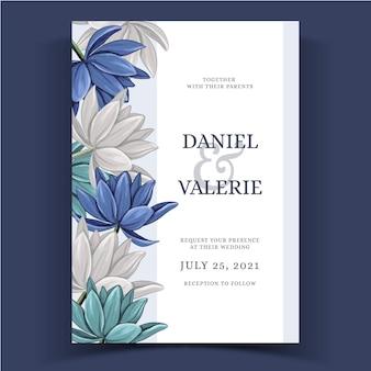Aquarel bloemen bruiloft uitnodigen
