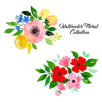 Aquarel bloemen collectie