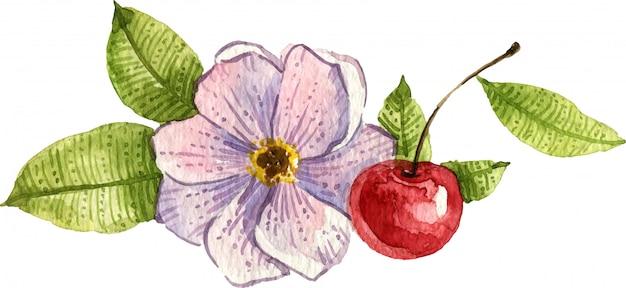 Aquarel bloemen compositie. boeket bloemen. handgeschilderde geïsoleerde illustratie