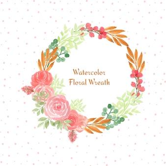 Aquarel bloemen frame met kleurrijke bloemen