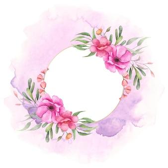 Aquarel bloemen frame voor speciale gelegenheid