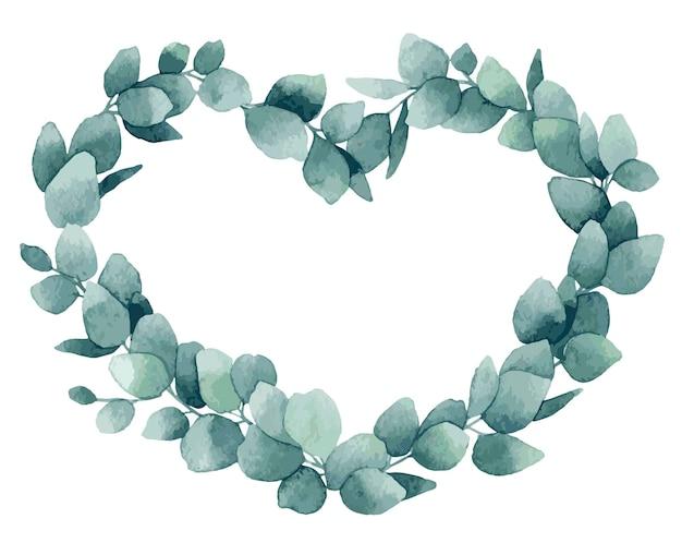 Aquarel bloemen frame voor valentijn