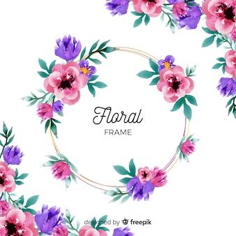 Aquarel bloemen frame