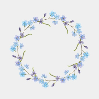 Aquarel bloemen krans tekening clipart