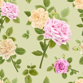 Aquarel bloemen naadloze patroon