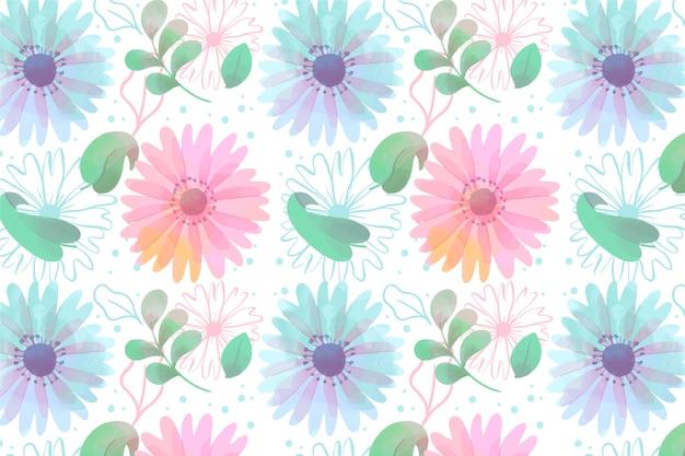 Aquarel bloemen screensaver met zachte kleuren