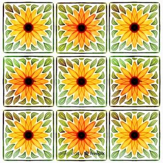 Aquarel bloemen sierachtergrond