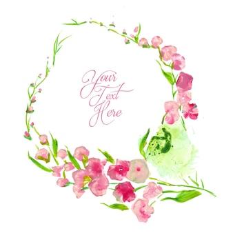 Aquarel bloemen suggestieve stijl