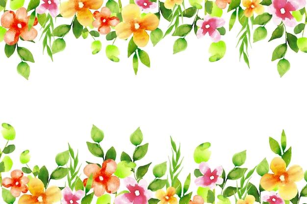 Aquarel bloemen wallpaper concept