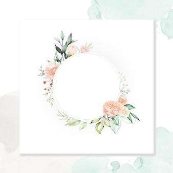 Aquarel bloemenkader multifunctionele achtergrond