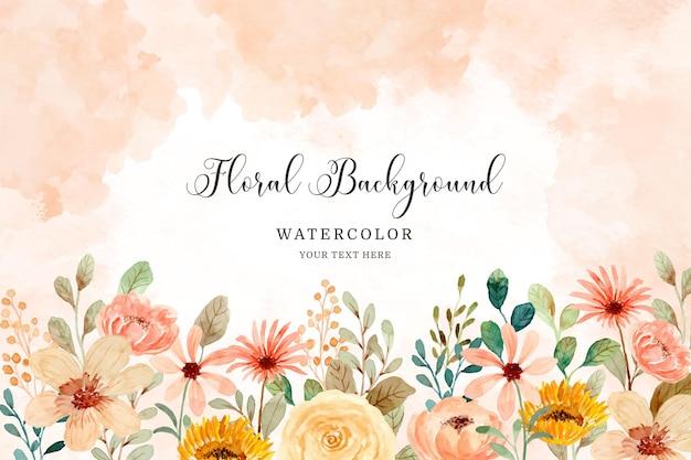 Aquarel bloementuin achtergrond