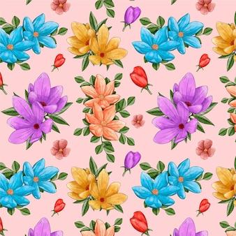 Aquarel bloemmotief