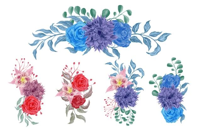 Aquarel bloemstukken