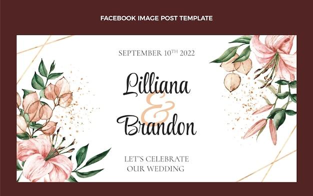 Aquarel boho bruiloft facebook bericht