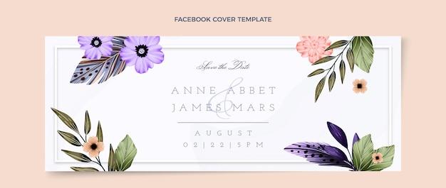 Aquarel boho bruiloft facebook omslag