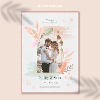 Aquarel boho bruiloft poster