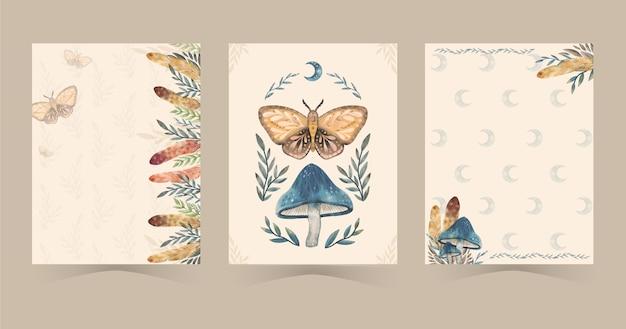 Aquarel boho covers ontwerp