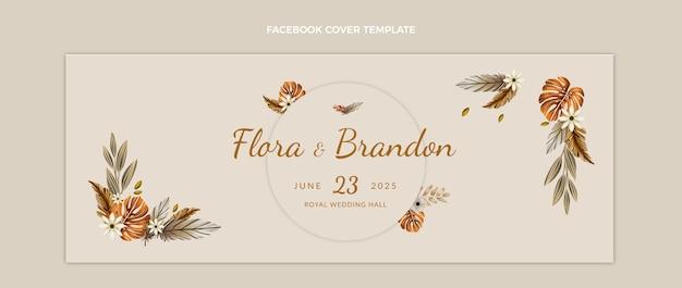 Aquarel boho verjaardag facebook cover