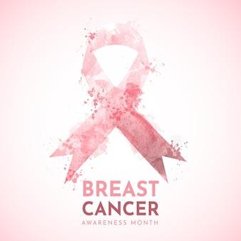 Aquarel borstkanker bewustzijn maand illustratie