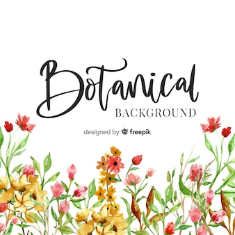Aquarel botanische achtergrond