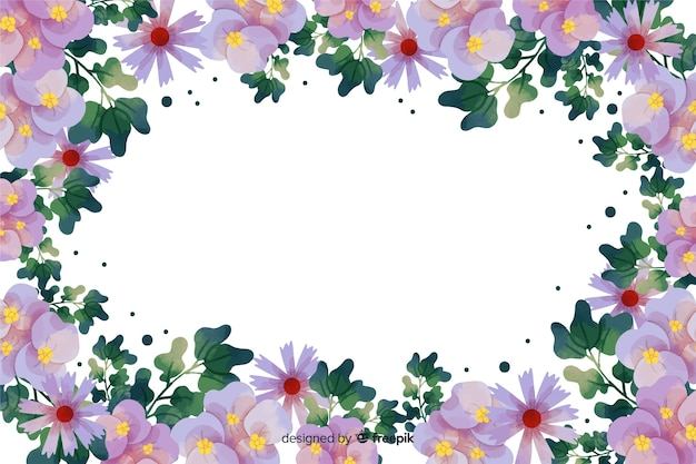 Aquarel botanische frame achtergrond