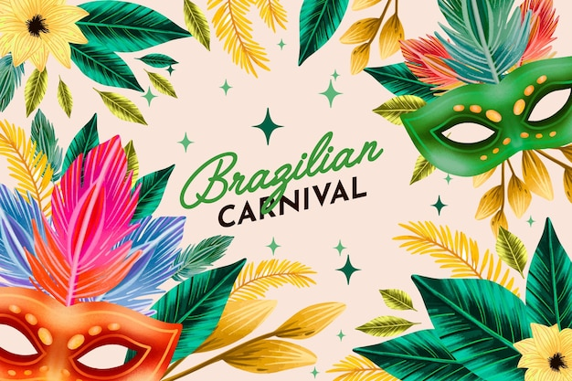 Aquarel braziliaans carnaval