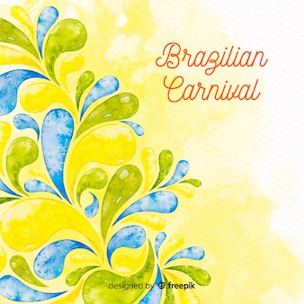 Aquarel braziliaanse carnaval achtergrond