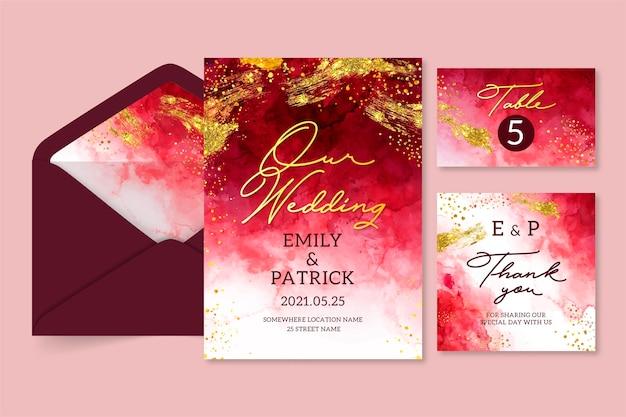 Aquarel bruiloft briefpapier