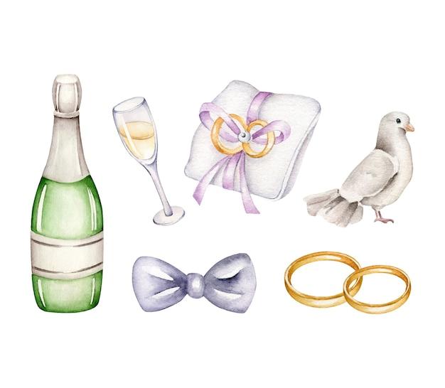 Aquarel bruiloft collectie.