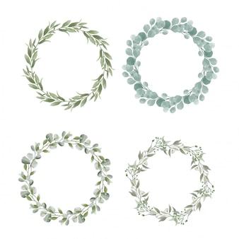 Aquarel bruiloft frame-collectie