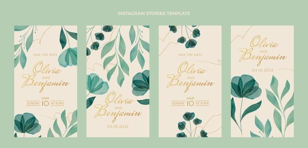 Aquarel bruiloft instagram verhalencollectie
