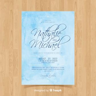 Aquarel bruiloft kaartsjabloon