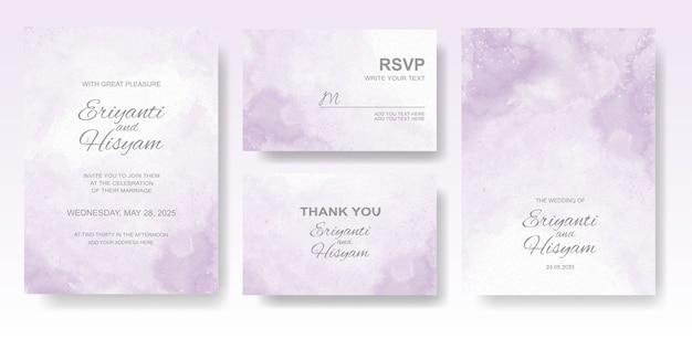 Aquarel bruiloft uitnodiging kaartenset
