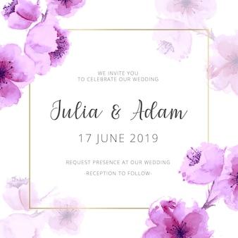 Aquarel bruiloft uitnodiging