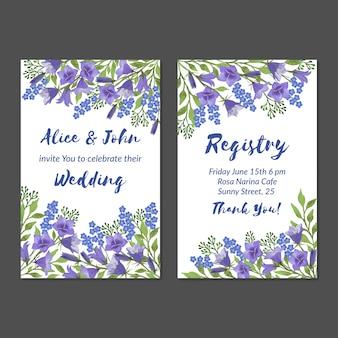 Aquarel bruiloft uitnodigingskaart