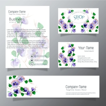 Aquarel business vector collectie