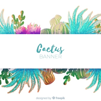Aquarel cactus banner