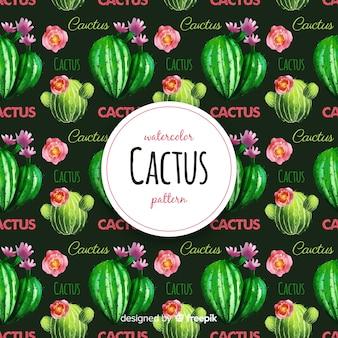 Aquarel cactus patroon