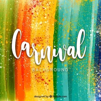 Aquarel carnaval achtergrond