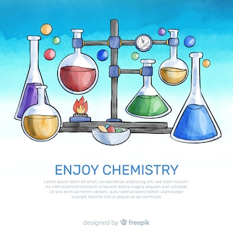 Aquarel chemie achtergrond
