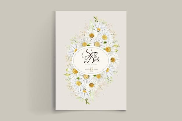 Aquarel chrysanthemum trouwkaart