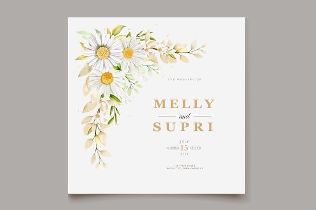 Aquarel chrysanthemum uitnodigingskaart